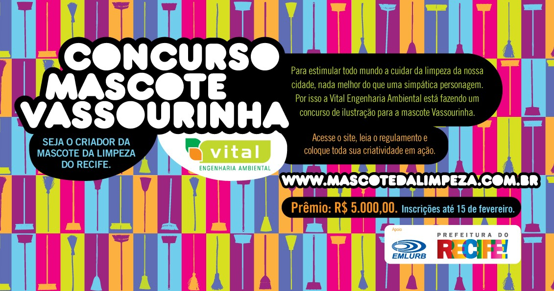 cartaz do concurso mascote vassourinha
